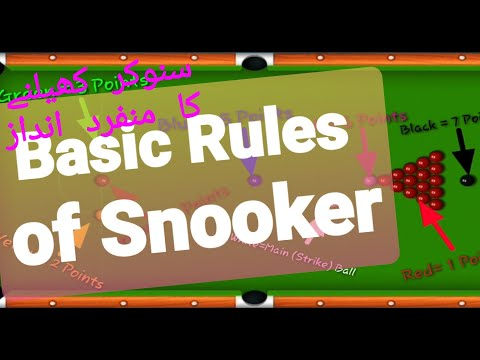 How To Play Snooker, (Basic Rules Of Snooker), Pakistan Vs Thailand (Online Played)