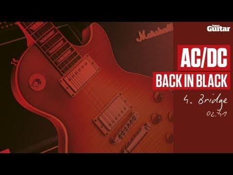 Guitar Lesson: AC/DC 'Back In Black' -- Part Four -- Bridge (TG214)
