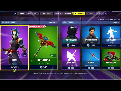 TARO | NARA | GATEKEEPER | FLYING CARP; Item Shop In FORTNITE #November25th