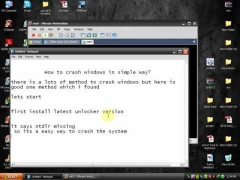 Easy Way To Crash Windows Operating System