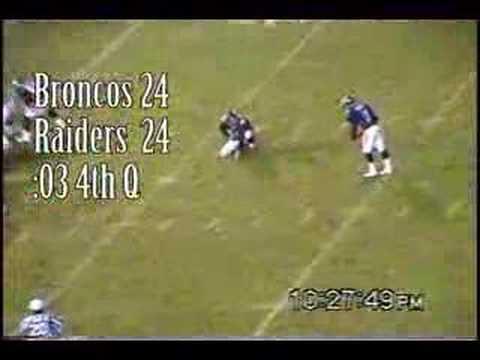 Broncos vs Raiders 11.13.2000