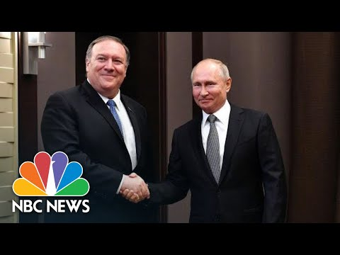 President Vladimir Putin Tells Mike Pompeo He's Keen To Improve U.S.-Russian Relations | NBC News