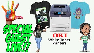 Live!! With April From She Is Creations Talking About White Toner Printers