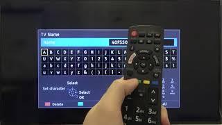 How to Change PANASONIC TV TX-40FS500 40-inch Smart TV Name - Set a Name for Panasonic Smart TV