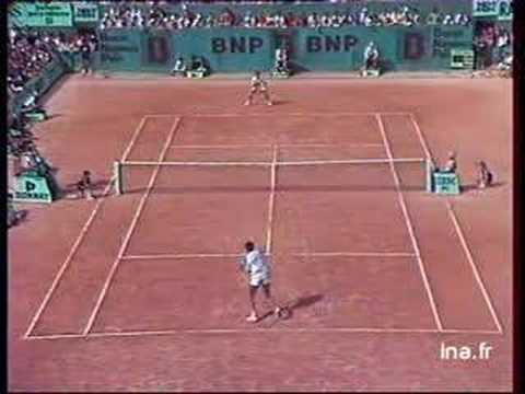 Leconte Noah French Open 1985