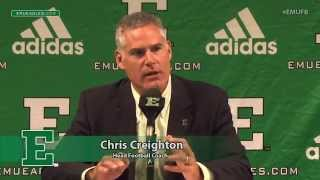 EMU Football Weekly Press Conference   Aug  31, 2015