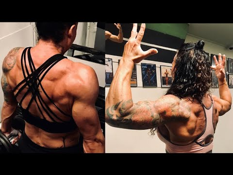 Women's Physique Athlete Ditte Bornak – Chest And Triceps Workout – Female Bodybuilding Motivation
