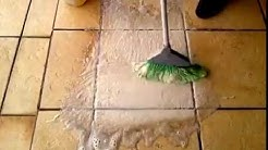 Amazing chemical cleaner for floor tiles with peroxide and baking soda