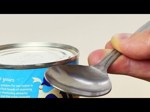 WATCH: Here's How to Open a Can Using Just a Spoon