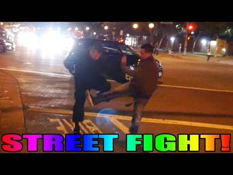 A Street Fight Breaks Out in West Hollywood