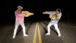 nerf war on worlds most haunted road gone wrong (we got chased by ghost trucks)