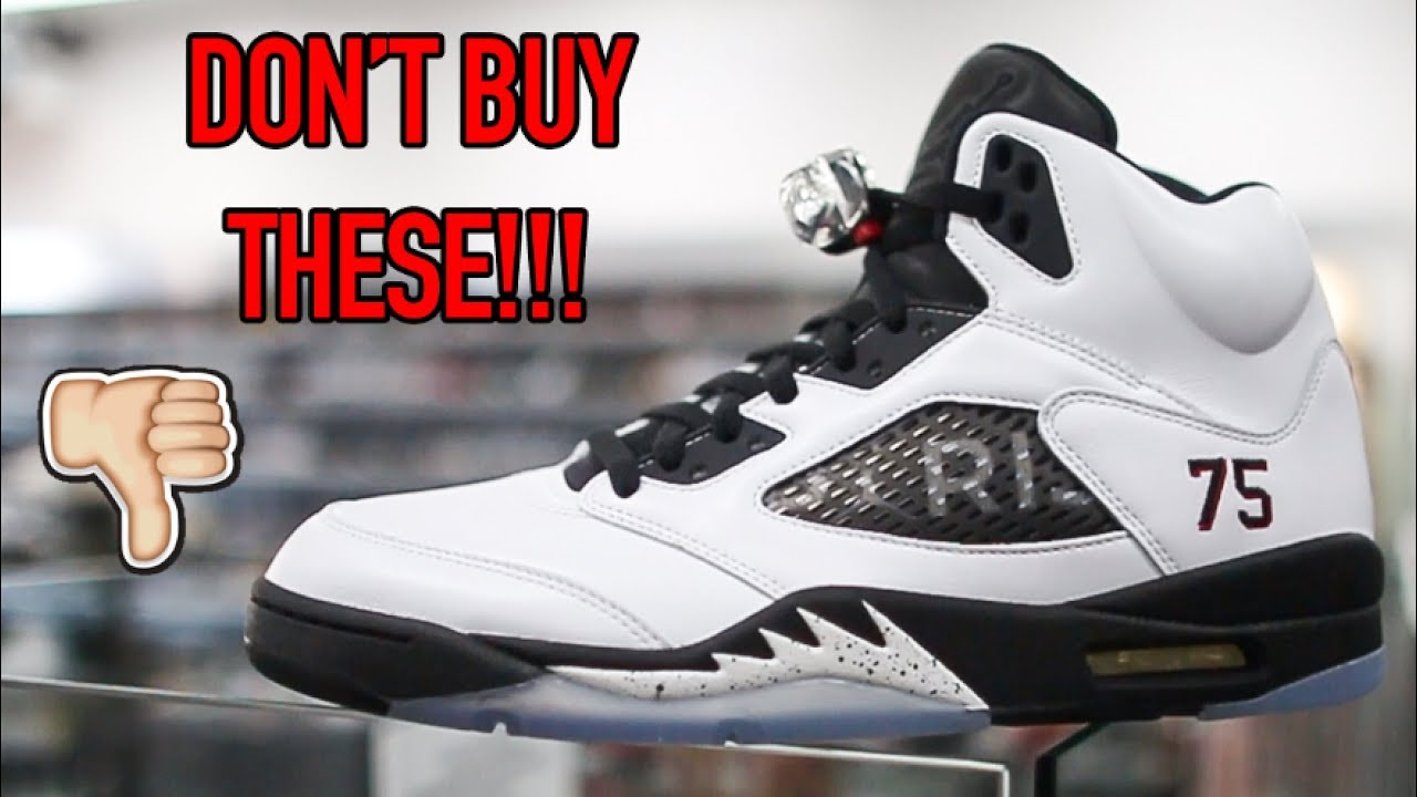 753c79365098 AIR JORDAN 5  PARIS SAINT GERMAIN  FRIENDS + FAMILY REVIEW!!! - YouTube
