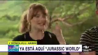 Entrevista con Chris Pratt y Bryce Howard sobre 'Jurassic World'   Noticias Caracol