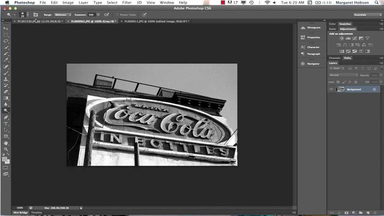 Working With The Dodge And Burn Tools In Photoshop Cs6 Youtube
