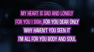 Body and Soul (Karaoke Version) - Amy Winehouse feat. Tony Bennett | TracksPlanet