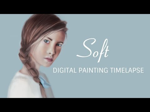 Soft (digital painting timelapse)