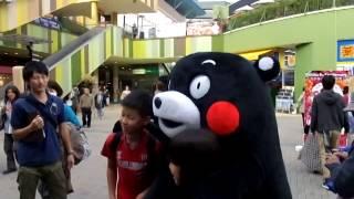 セントレア⇔熊本航空路線・観光PRイベントが終わってからくまモンが散...