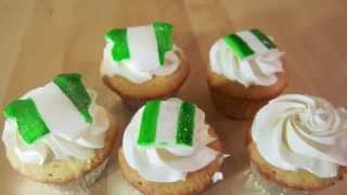 Nigeria Independence Day Cupcake