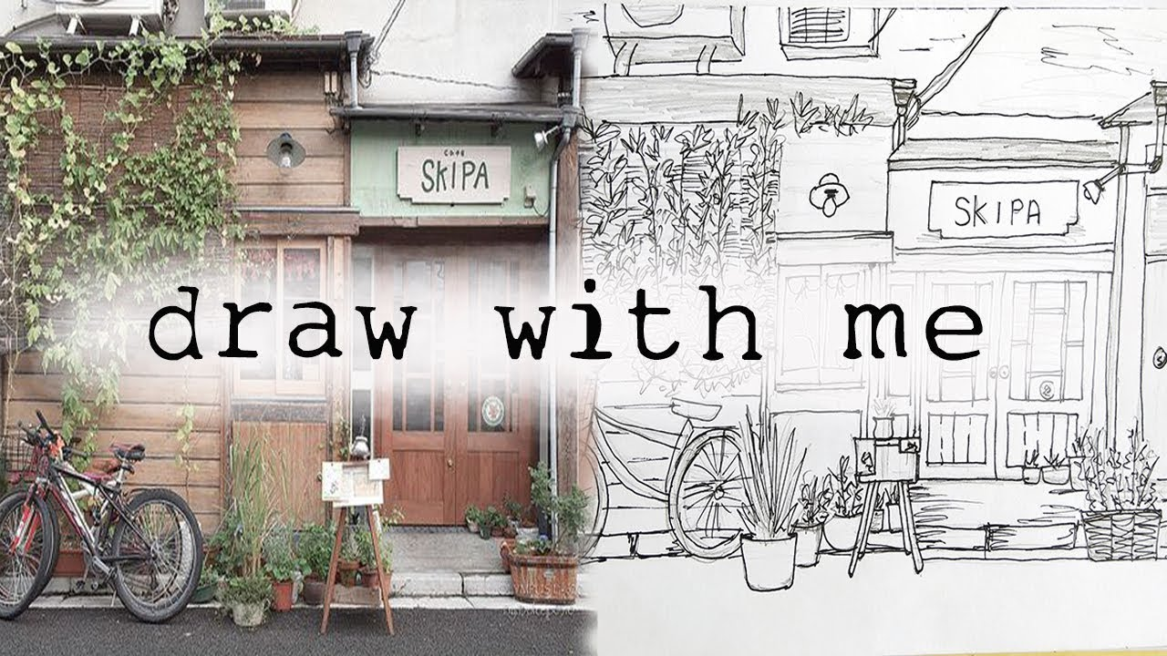 Draw With Me A Japan 39 S Coffee Shop Speed Drawing Youtube