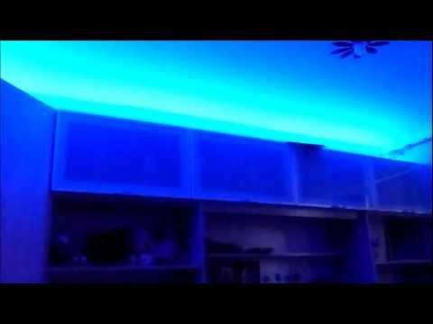 deckenbeleuchtung im kinderzimmer rgb led streifen auf kabinett vereidigt youtube. Black Bedroom Furniture Sets. Home Design Ideas