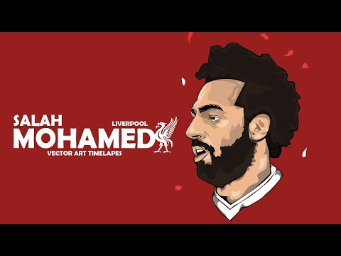 Photoshop Timelapse- Mohamed Salah Vector Art | Liverpool | GraphicsD 🇪🇬 (#Photoshop)