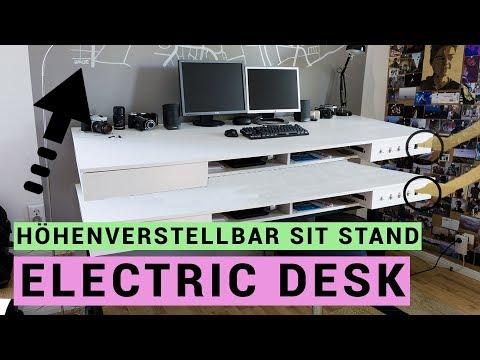 elektrischen schreibtisch selber bauen sit stand desk en subtitles. Black Bedroom Furniture Sets. Home Design Ideas