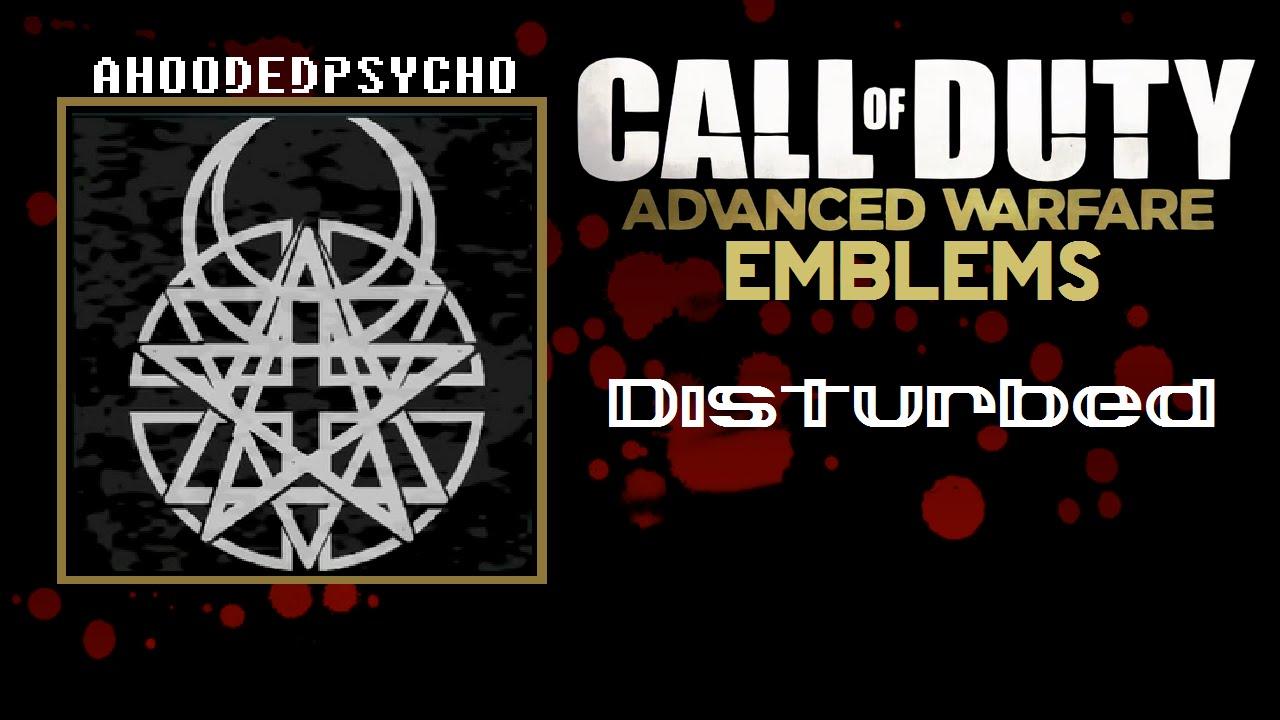 Disturbed band logo cod advanced warfare emblem tutorial codaw