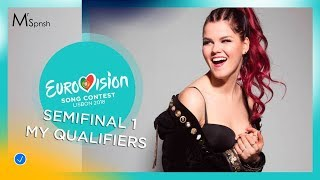 Eurovision Song Contest 2018. Semifinal 1 my 10 qualifiers
