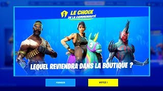 THE NEW VOTE SYSTEME FOR THE BACK OF SKINS ANCIENS on FORTNITE...