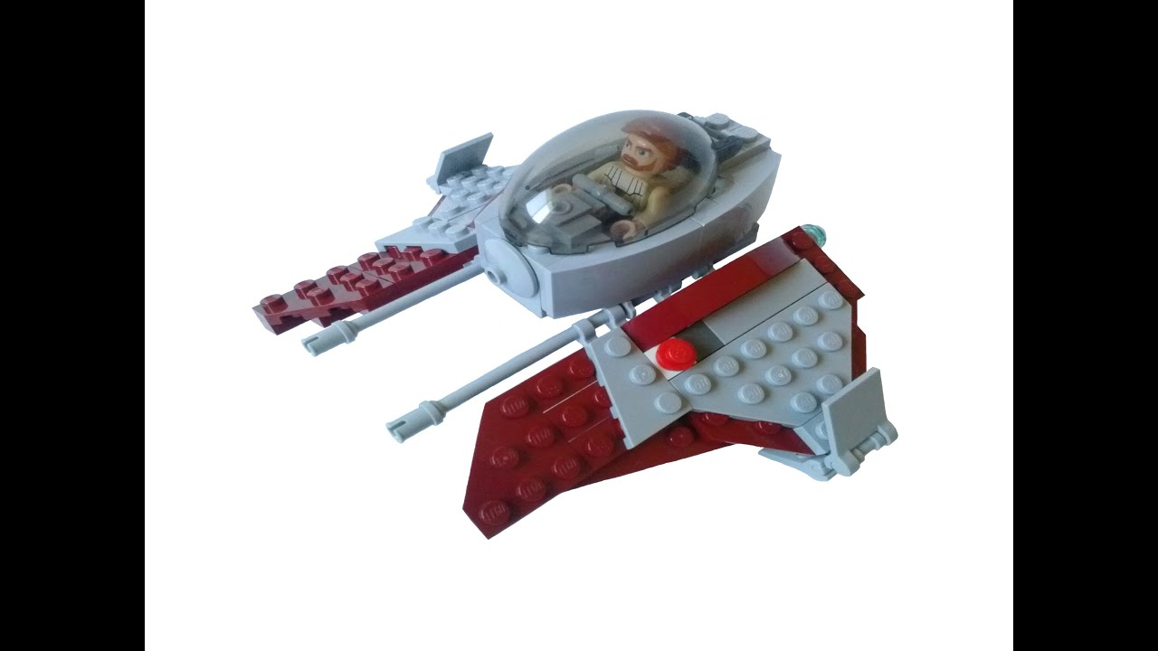 Lego Star Wars Obi Wan's Jedi Interceptor MOC with ...