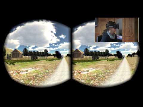 Walking simulation with Oculus Rift (DK1)