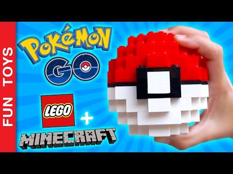 POKEBALL with Lego e Minecraft! DIY your own Pokeball! Tutorial! Pokémon Go!