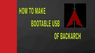 BOOT-ABLE USB FOR BLACKARCH