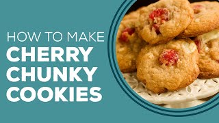 White Chocolate Cherry Chunky Cookies - Blast from the Past