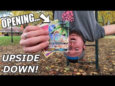 POKEMON CARD OPENING IN STRANGER THINGS UPSIDE DOWN!