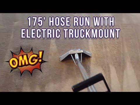 ELECTRIC TRUCKMOUNT CARPET CLEANING 175' HOSE RUN