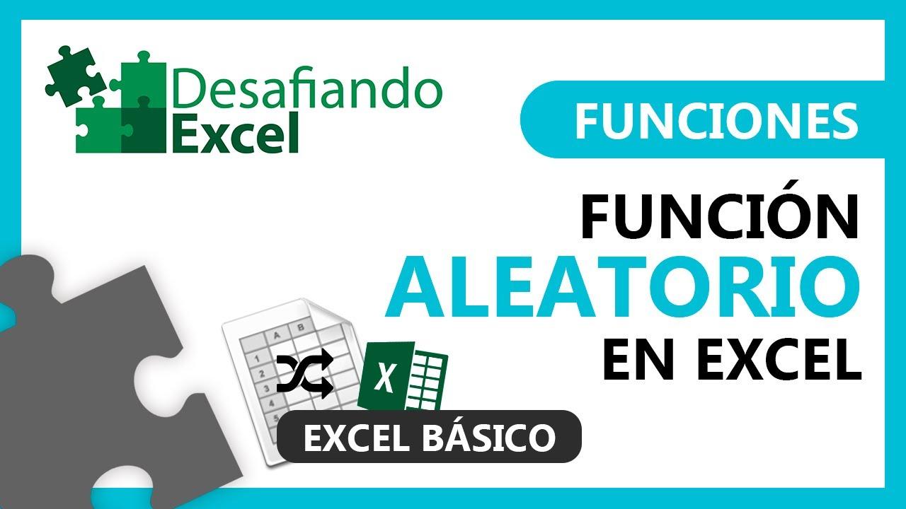 Función ALEATORIO en Excel | Funciones en Excel #42