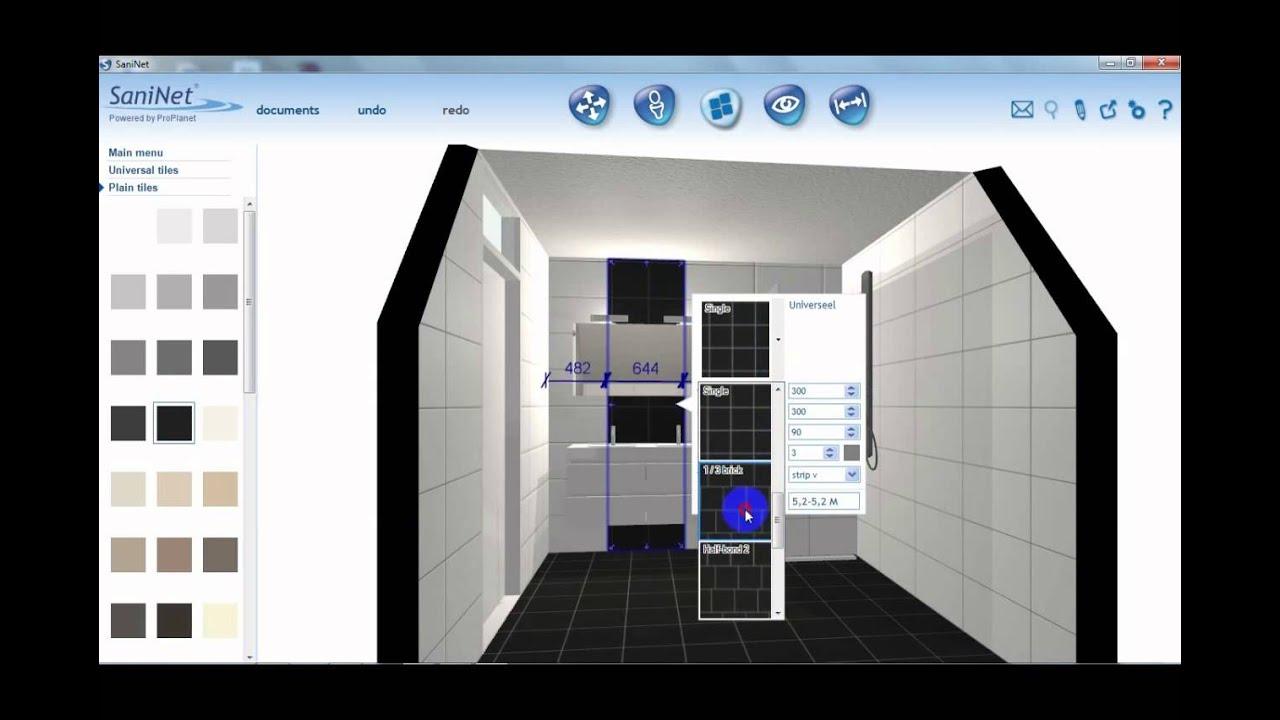 Easy 3d bathroom planner youtube for Planner bagno 3d