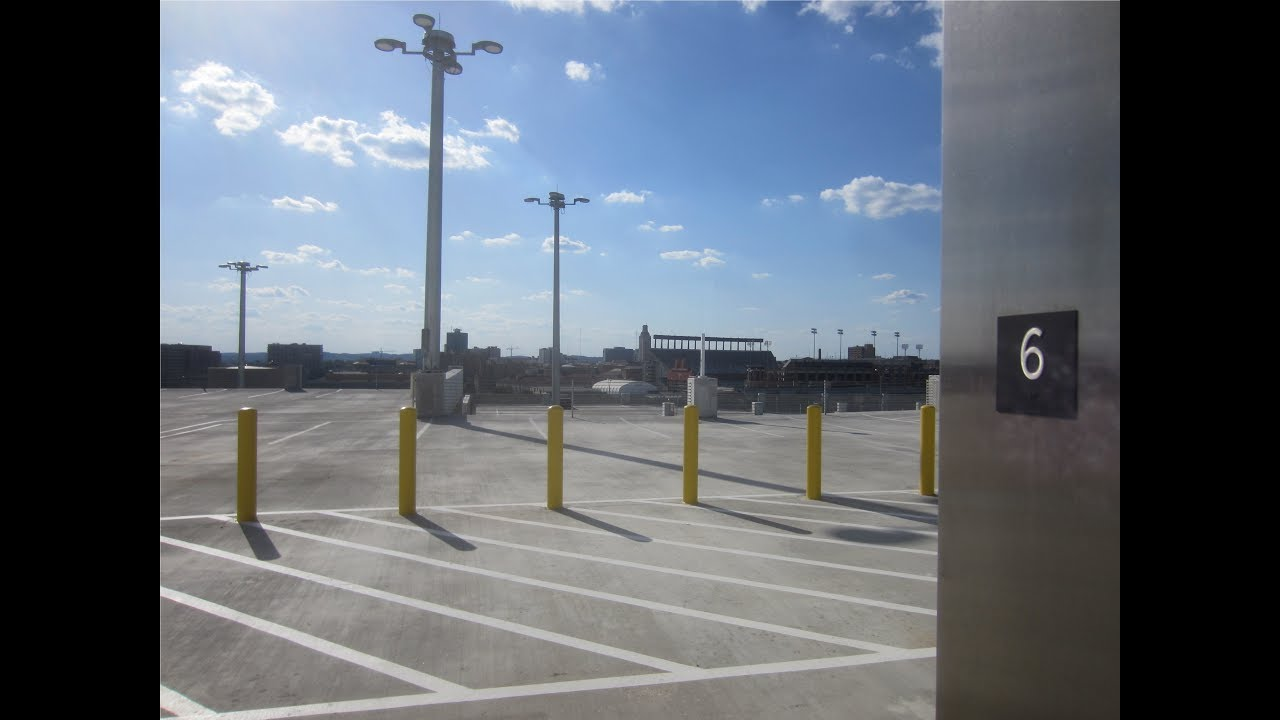 Tejas Traction Elevators at the UT Austin Parking Garage #11. - YouTube