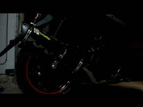 Yamaha Zuma 125cc Two Brothers exhaust sound clip