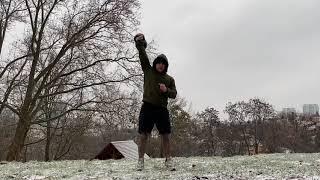 Тренировка с гирей на все тело Силовые и кардио упражнения для тренировок дома