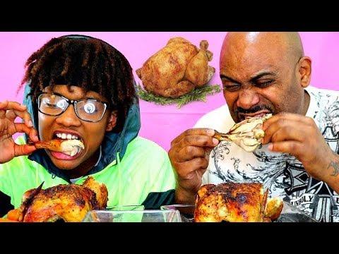 ROTISSERIE CHICKEN MUKBANG! ( SAVAGE EATING)
