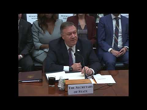 Secretary Pompeo Testifies before the House Foreign Affairs Committee