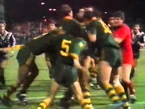 Fight Australia v New Zealand 1986 Test Match