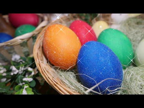 Ostereier färben - Glitzereier selber machen - Glitzer Effekt auf Ostereiern