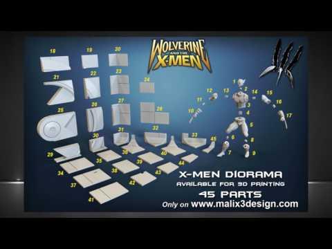 X-MEN FULL Deadpool vs Wolverine - Diorama for 3D Printing