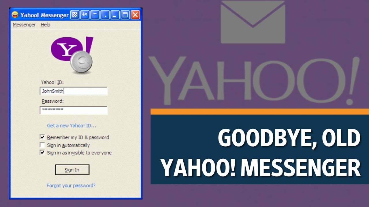 Yahoo discontinues old Yahoo Messenger app - YouTube