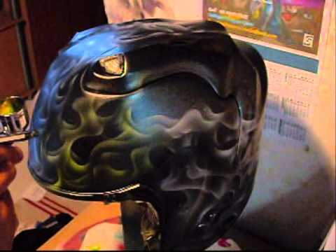 airbrush helmet 39 true fire 39 step by step. Black Bedroom Furniture Sets. Home Design Ideas