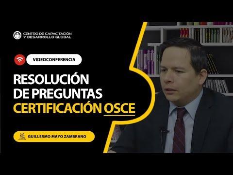 PREGUNTAS RESUELTAS DE LA CERTIFICACION OSCE