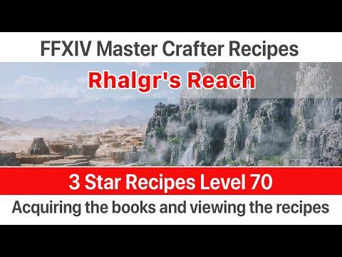 ✅ FFXIV Unlock 3 Star (Book VI) Crafter Master Recipes